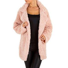 Пальто женское плюшевое от производителя Holala (Европа), Розовый