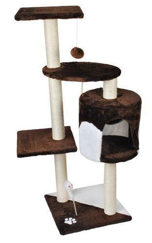 Дерево домик когтеточка когте точка драпак дряпка для кота кошки110см коричневе