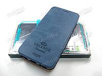 Чехол книжка MOFI Vintage Xiaomi Mi A2 (синий)