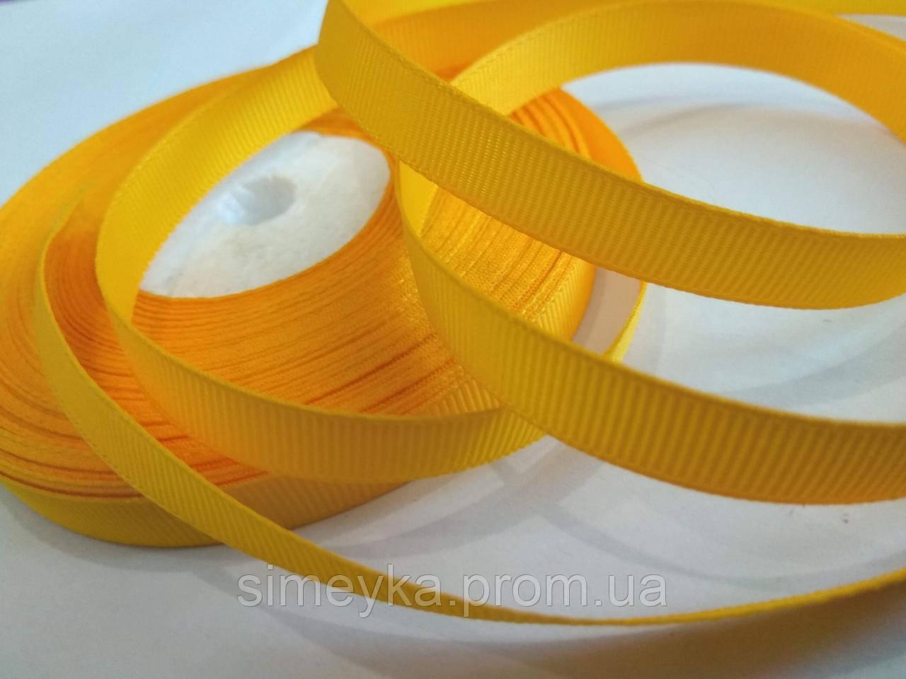 Лента репсовая 1 см. Желтая