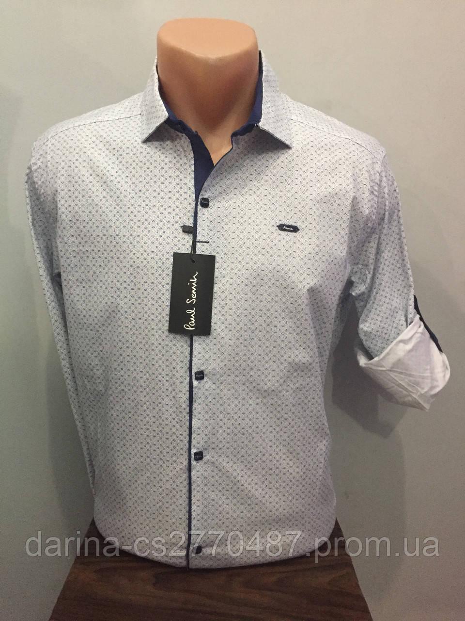 Турецкая мужская рубашка на кнопках S-2XL