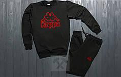 Спортивный костюм без молнии Kappa черный топ реплика