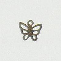 Металл. пластина Бабочка мини 0,7*0,7 см ( 40 шт)