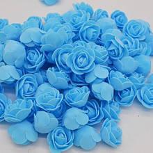 Набор голубых цветочков - в наборе 48-50шт., размер одного цветка около 3см, пена