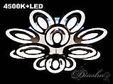 Сверхъяркая светодиодная люстра с цветной подсветкой MX2221/8+4BK LED, фото 3