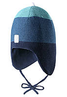 Зимняя шапка-бини для мальчика Reima 518466-6981. Размер 48.