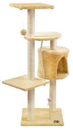 Дерево домик когтеточка когте точка драпак дряпка для кота кошки110см беж 2953