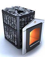 Дровяная печь для сауны Пруток-Панорама  ПКС - 02, фото 1