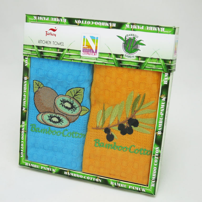 Набір кухонних рушників Nilteks Bamboo-Cotton Fruits