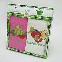 Набор кухонных полотенец Nilteks Bamboo-Cotton Fruits4, фото 1