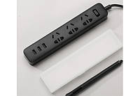 Сетевой фильтр Mi Power Strip (3 розетки + 3 USB-port) Black