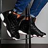 Nike Air Jordan 13 Black White Red  (реплика), фото 3