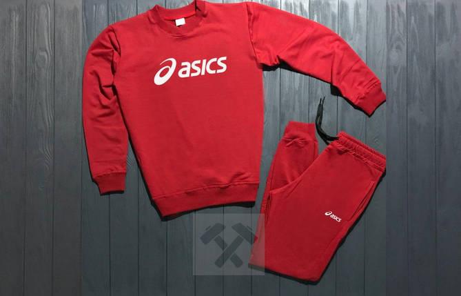 Спортивный костюм без молнии Asics красный топ реплика, фото 2