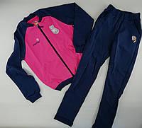 Спортивный костюм для девочек 8 лет Рост 134 см Розовый/синий Хлопок КС569(134) Бэмби Украина