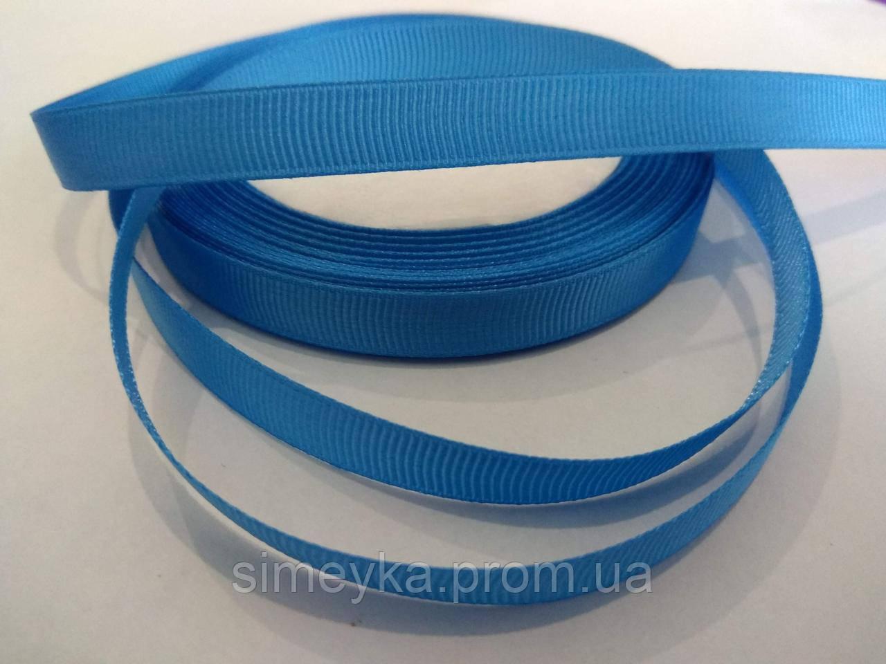 Репс для заколок, ширина 2,5 см, синяя (оттенок: джинс)