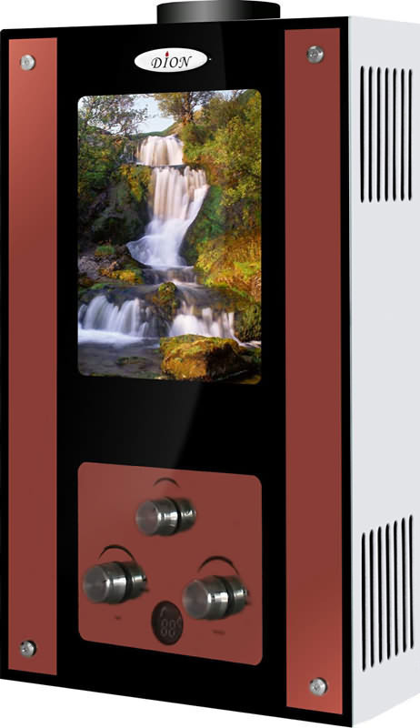 "Колонка газовая DION JSD10 G ""Водопад "", Мощность: 20 кВт, Проток10 л/мин, Дымоходная, розжиг- батарейки"