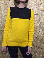Свитер женский Турция черно-желтый