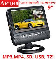 """Автомобильный портативный телевизор 9"""" Opera TV NS-901 с Т2 + USB + SD"""