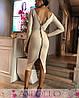 Платье двустороннее на молнии с разрезом длинный рукав, фото 5