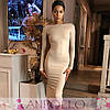 Платье двустороннее на молнии с разрезом длинный рукав, фото 6