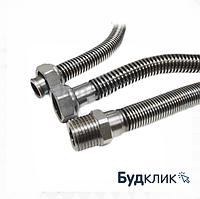 Ecoflex Шланг Из Нержавеющей Стали Для Водопровода И Отопления (Стандарт. Шаг) D 1' L-50 См Гайка-Штуцер