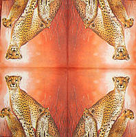 Декупажные салфетки Гепарды 202
