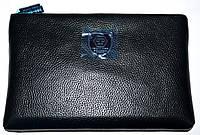 Мужской кожаный черный клатч-сумка Philip Plein с ремешком на руку 27*18 см, фото 1