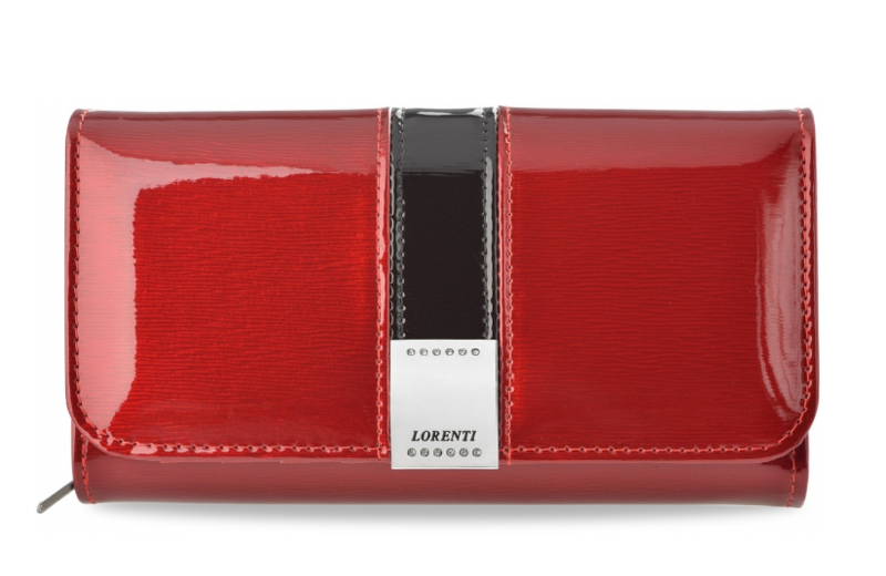 217e476c1639 Элегантный кошелек Lorenti из натуральной лакированной кожи (красный) Италия  код 331 - Интернет-