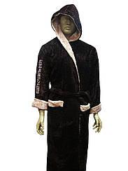 Халат мужской с капюшоном Sport Koyu Kahve Soft