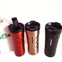 Термокружка Starbucks волнистая - Старбакс, термо чашка на подарок 500 мл, фото 1