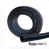 Труба полиэтиленовая водопроводная черная с синей полосой техническая D20 (200)