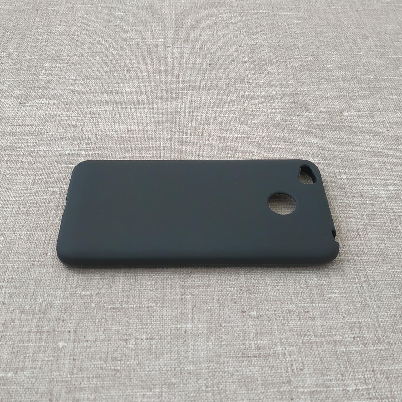 Чехлы для Xiaomi Redmi 4X TPU 4x black Для телефона Черный