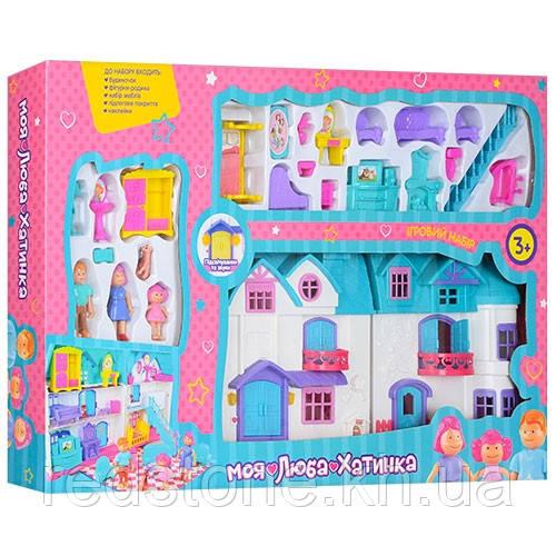Кукольный дом 1205АВ Doll House (звук, свет, мебель, фигурки)