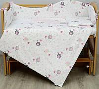 Детский постельный комплект Верес Елефант пинк 6од. 208.02 Детский комплект