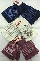 Перчатки женские шерстяные 2-ные без пальцев Корона ПЖЗ-8, фото 1