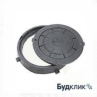 Люк С Замком Полимерный Черный 590 Мм Х 690 Мм Мпалст Максимальный Вес 1,5 Тонн