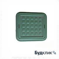 Люк Квадратный Ромашка Полимерный Зеленый 260Мм Х 370Мм Максимальный Вес 1,5 Тон