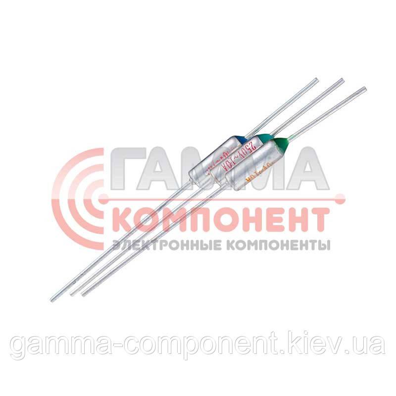 Термопредохранитель TZD-075 (75°C, 10А, 250V)