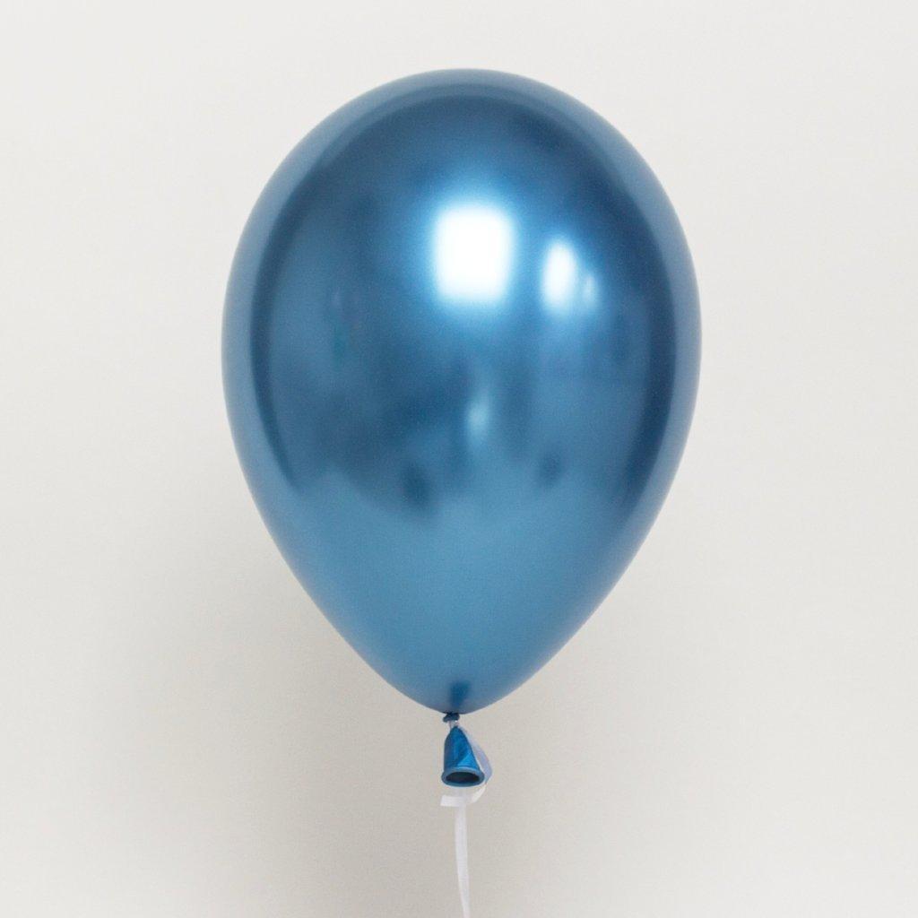 Шар хром голубой chrome blue 30 см