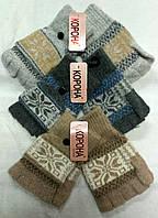 Перчатки женские шерстяные 2-ные без пальцев Корона ПЖЗ-159, фото 1