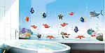 Самоклеюча наклейка на стіну Підводний світ (130х60см), фото 4