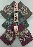Перчатки женские шерстяные 2-ные без пальцев Корона ПЖЗ-22, фото 1