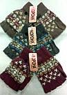 Перчатки женские шерстяные 2-ные без пальцев Корона ПЖЗ-1522, фото 8