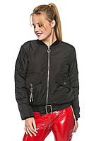 Демисезонная куртка-бомбер Дженна черный(44-52)