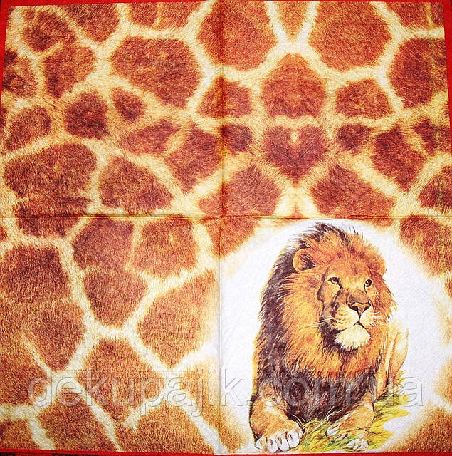 Декупажные салфетки лев 284