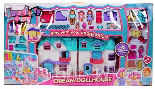 Кукольный дом 1205 Doll House (звук, свет, мебель, фигурки)