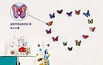 Набір метеликів 3D, фото 2