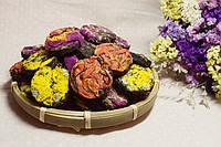 Красный чай Дянь Хун  прессованный с розой,хризантемой и лилией