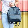 """Женский кожаный рюкзак-сумка(трансформер) """"Жозефина Dark Blue"""""""