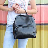 """Женский кожаный рюкзак-сумка(трансформер) """"Жозефина Black"""""""